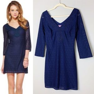 LILLY PULITZER Navy Lace Alden Tunic Dress Size XS